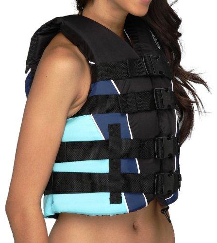 ONeill Womens Superlite USCG Vest Black Turquoise MD 0 0 - O'Neill Women's Superlite USCG Vest, Black Turquoise - MD